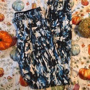 Blue nike paint stroke leggings